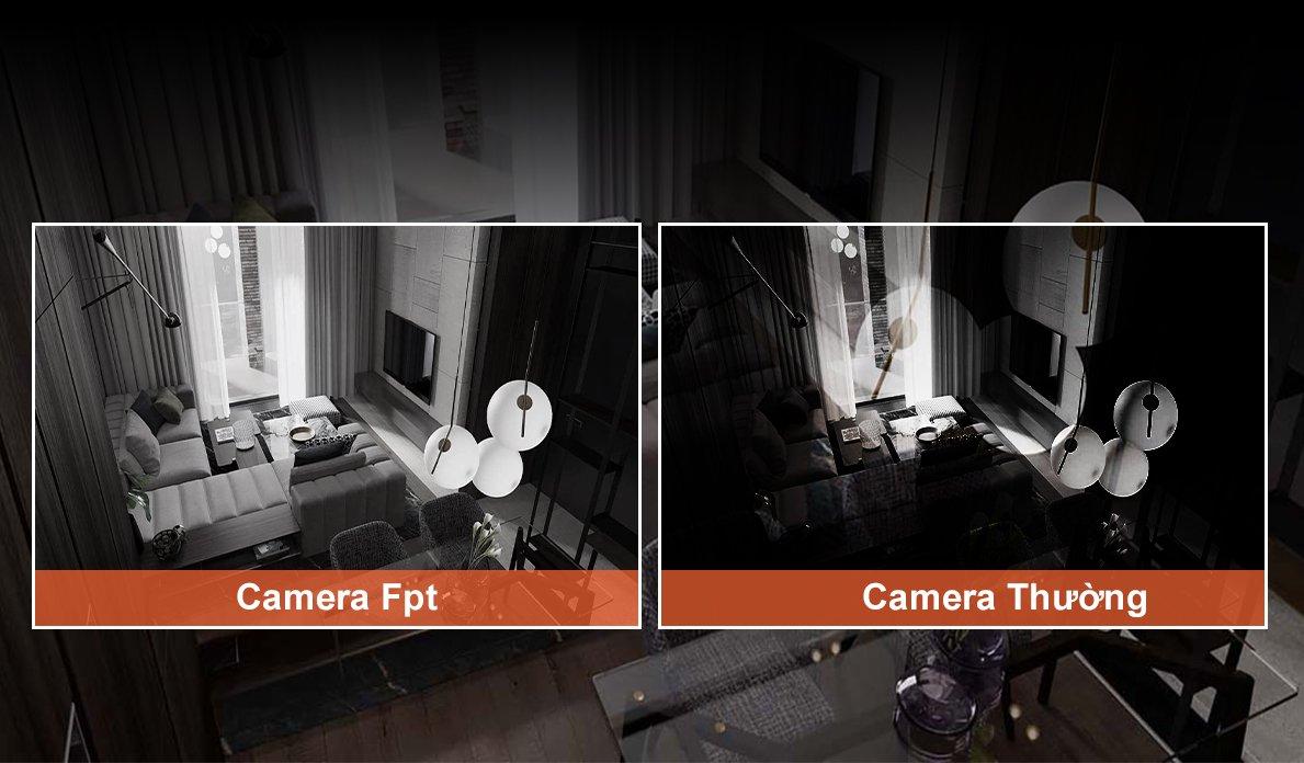 camera fpt trong nhà hỗ trợ xem đêm rõ nét